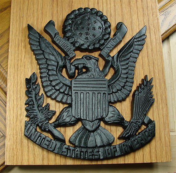 USA Shield Plaque - Black Powder Coat finish