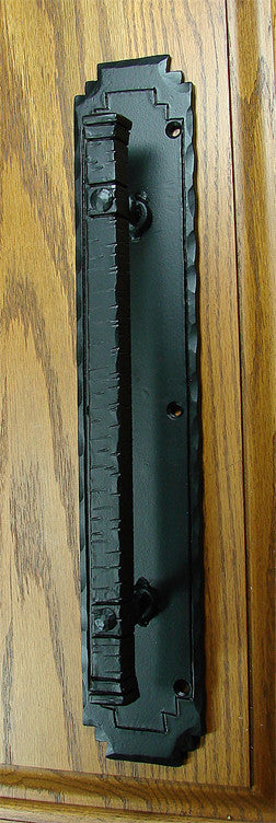 "The ""Aztec"" Door Pulls - Black Powder coat finish - Wild West Hardware"