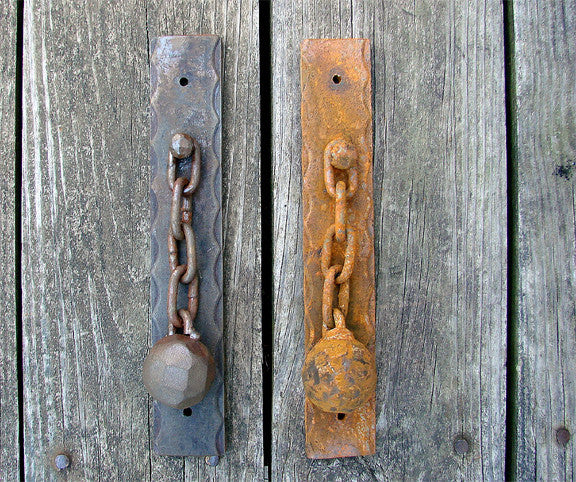 Very Rustic Ball and Chain Knocker - Wild West Hardware