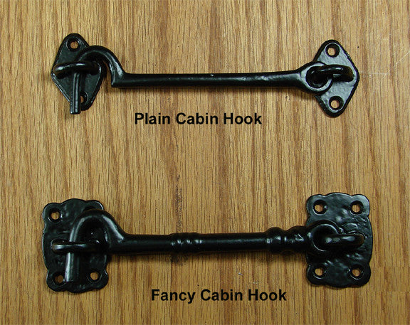 Fancy or Plain Cabin Hook - Wild West Hardware