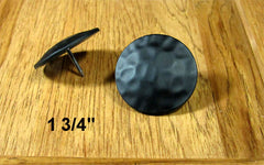 "Premium Round Clavos   1 3/4"" diameter head-Black PC - Wild West Hardware"