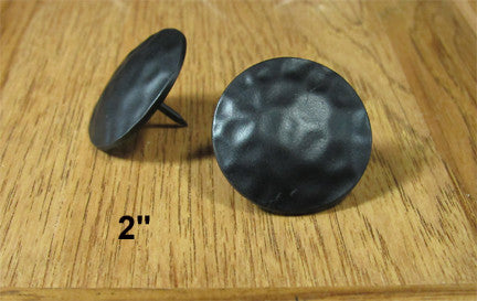 "Premium Round Clavos - Black Powder Coat Finish Zinc Alloy  2"" diameter head"