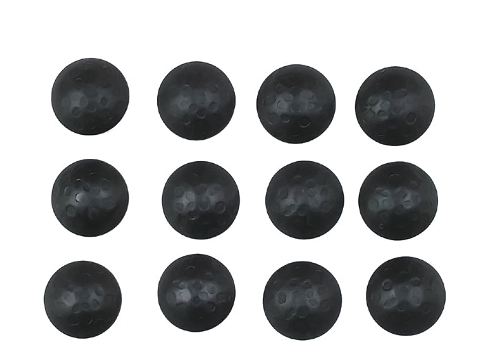 "50 pack SALE Round Clavos - 1"" dia. Lightly Hammered - Matte black finish"
