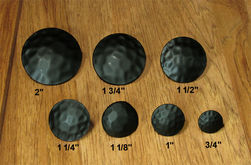 Round Clavos, Black Powder coat finish 7 sizes to choose from