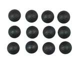 "Clavos 1"" dia., with lightly hammered look, Matte Black, assorted finish (Various pack sizes) - Wild West Hardware"