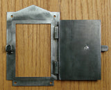"Iron Door Viewer, ""Craftsman Style""  (2 pc. Iron Speakeasy Door Viewer Kit) - Wild West Hardware"