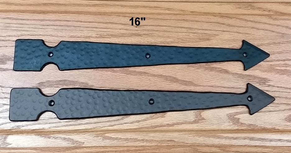 "16"" Faux Arrow Hinge with Hammered distressed surface"