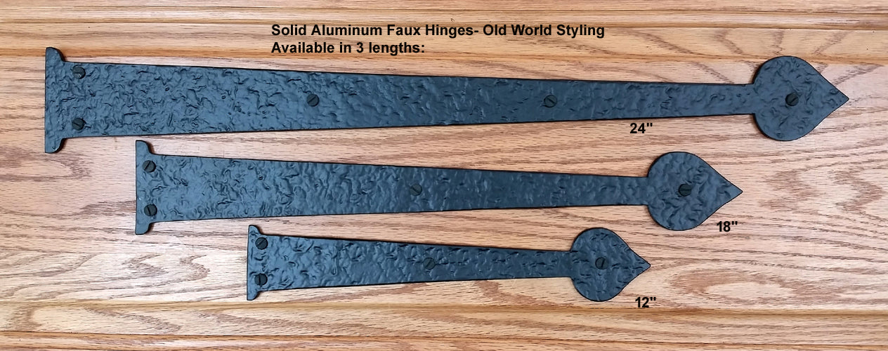 Premium Spade Decorative Hinges- 3 sizes-Solid Aluminum - Wild West Hardware