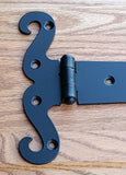"Decorative T-Hinge, Strap Hinge, The ""Wildflower"" - Wild West Hardware"