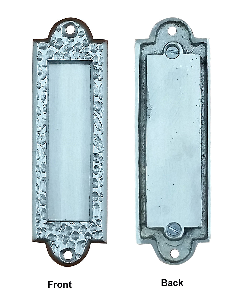 Flush Pull Handle Barn Door With Distressed Pitted Look Satin Nickel Finish Wild West Hardware