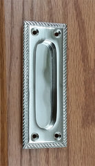 Flush Pull, Finger Pull with Rope Edge, Satin Nickel finish - Wild West Hardware