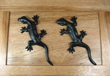 Decorative Gecko- Black Powder Coat finish - Wild West Hardware