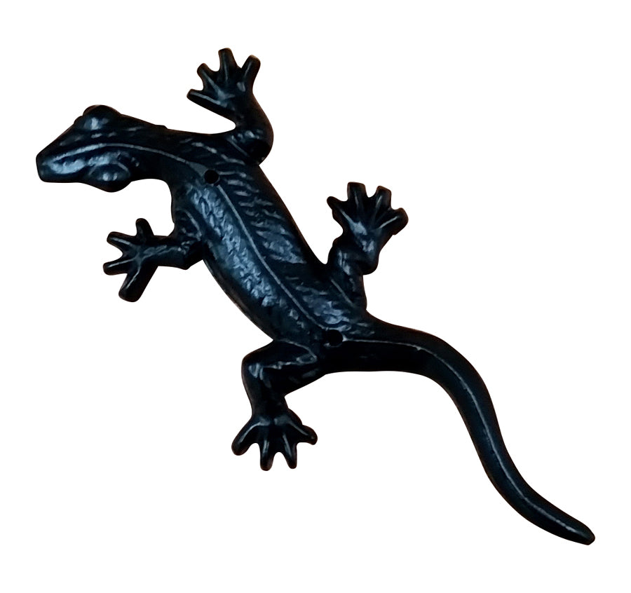 Decorative Gecko- Black Powder Coat finish