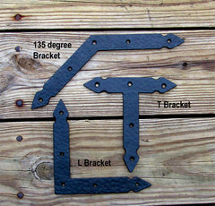 Hand-forged, Rustic Hammered Brackets, Braces (incl Rustic head screws) - Wild West Hardware