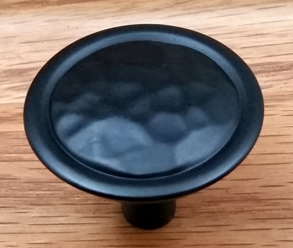 Rustic Hammered Knob, Matte Black finish