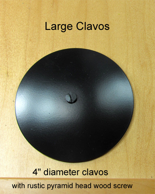 "Clavos for large doors - NEW!  4"" diameter Clavos - Wild West Hardware"