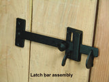 Ponderosa Gate Thumb Latch - Dark Bronze powder coat finish - Wild West Hardware
