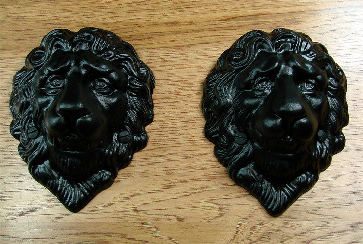Lion Head Decoration - Black Powder Coat finish - Wild West Hardware