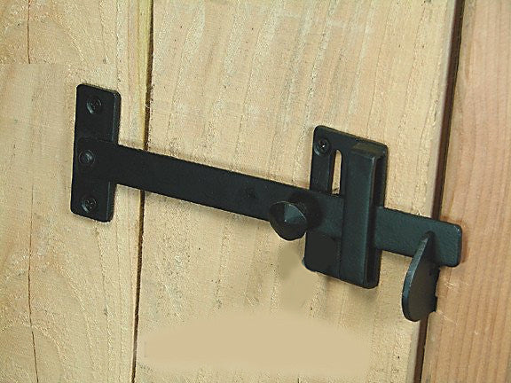 Long Bar Gate Latch Hand Forged Iron Wild West Hardware