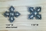 "Ornate Style Clavos, 1 1/4"" x 1 1/4"" - Antique Silver finish"