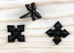 "Ornate Style Clavos, 1 1/4"" x 1 1/4"" - Oil Rubbed Bronze finish - Wild West Hardware"