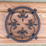 Forged Steel Grille / Window Grille / with inset decorative spear type rosette - Wild West Hardware