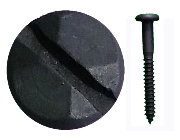 "Rustic Pyramid Head Slotted Screws - 1 1/2"" x #8"