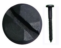 "Rustic Pyramid Head Slotted Screws - 1 1/2"" x #8 - Wild West Hardware"