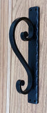 Medium Scroll Door Pull, Gate Pull, Black Powder Coat Finish - Wild West Hardware