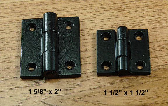 Premium Surface Mount Hinges Square corner  2 sizes - Wild West Hardware
