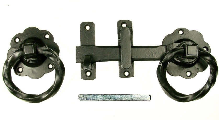 Old World Twisted Ring Gate Latch Kit (Small)