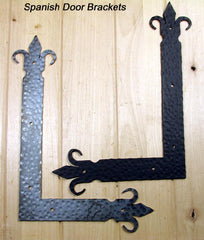 Spanish Style Corner Bracket - Black Powder - Wild West Hardware
