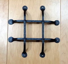 "Premium Flat Tipped Speakeasy Grille  - Size: 12"" x 12""  4 Bars, Black Powder Coat finish"