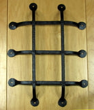 "Premium Flat tip Speakeasy Grille  - Size: 12"" x 16""  5 Bars, Black Powder Coat finish"