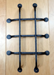 "Premium Flat Tipped Speakeasy Grille  - Size: 12"" x 20""  5 Bars, Black Powder Coat finish - Wild West Hardware"