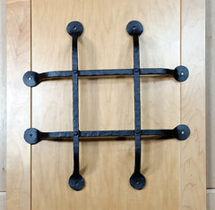"Premium Flat Tipped Speakeasy Grille  - Size: 14"" x 14""  4 Bars, Black Powder Coat finish - Wild West Hardware"