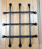 "Premium Flat Tipped Speakeasy Grille  - Size: 16"" x 20""  6 Bars, Black Powder Coat finish - Wild West Hardware"