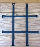 speakeasy grille for doors, black wrought iron, hammered, low profile