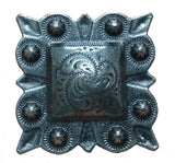 "Square STUDDED Style Clavos, 1"" x 1"" - Antique Silver finish"