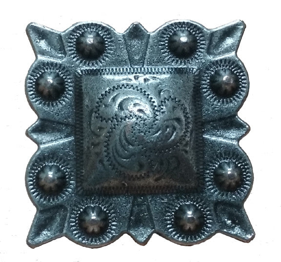 Square Studded Style Clavos 1 Quot X 1 Quot Antique Silver