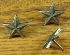 "Premium 1 1/4"" Star  - Antique Brass finish - Wild West Hardware"