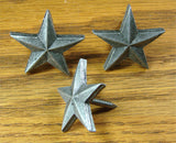 "Premium 1 1/4"" Star  - Pewter finish - Wild West Hardware"