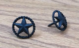 "Premium 1"" Star Clavos with Rope Edge -Oil rubbed bronze finish - Wild West Hardware"
