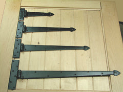 Premium Spear Style Strap Hinges - Wild West Hardware