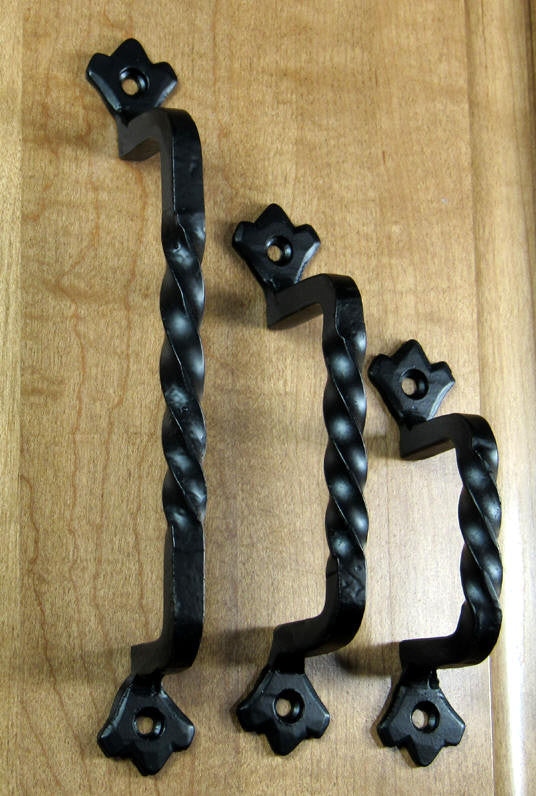 Twisted Iron Pulls Old World Style Cabinet And Drawer