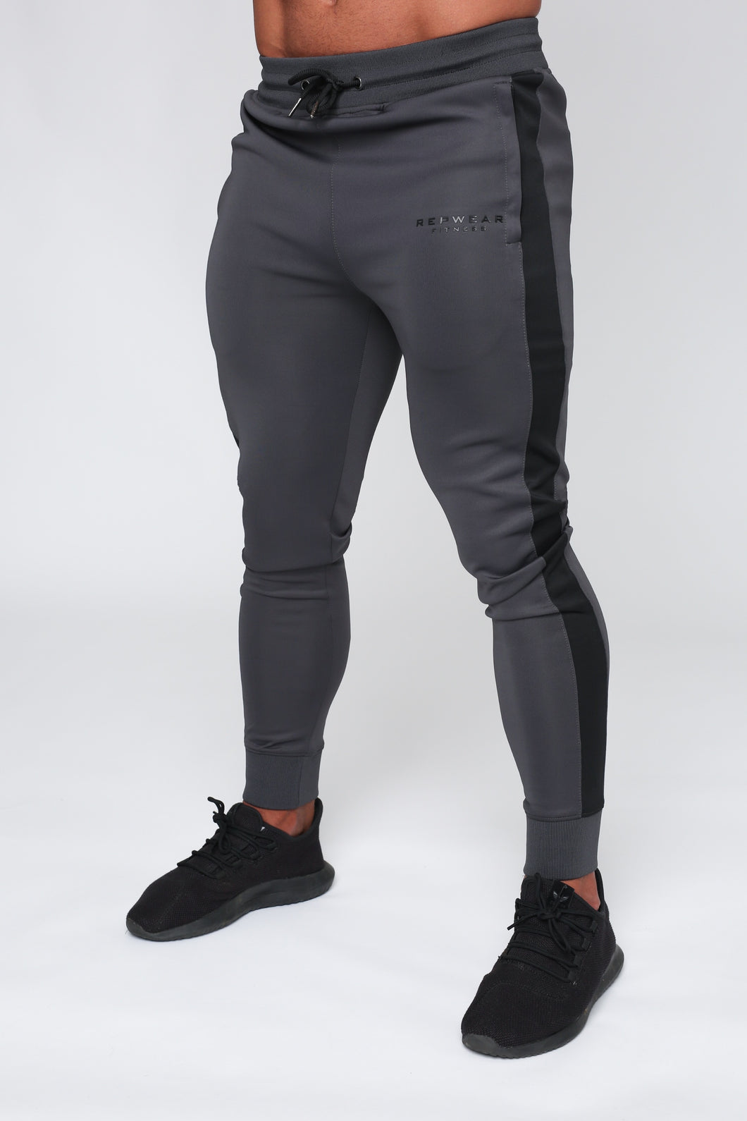 Repwear Fitness Original Poly Tracksuit Bottoms Grey