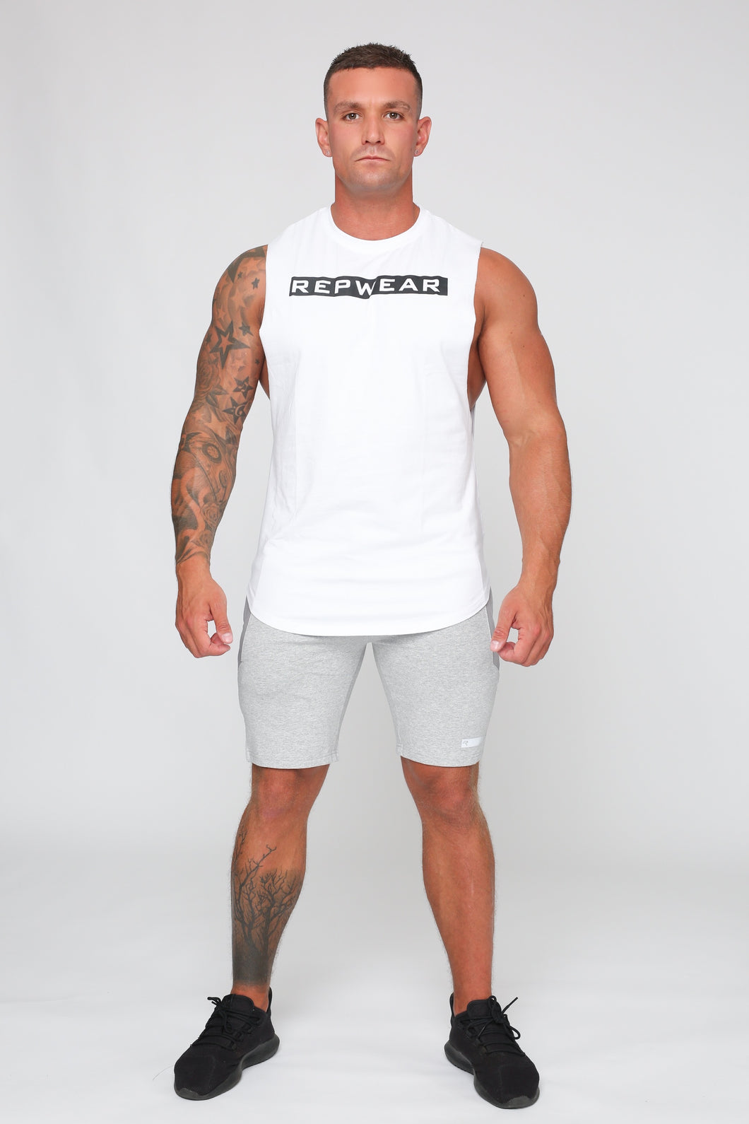 Repwear Fitness Signature Sleeveless T-Shirt White