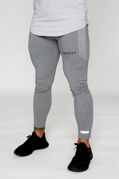 Repwear Fitness ProFit Marl Grey Fitted Bottoms