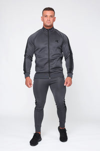 Repwear Fitness Original Poly Tracksuit Jacket Grey