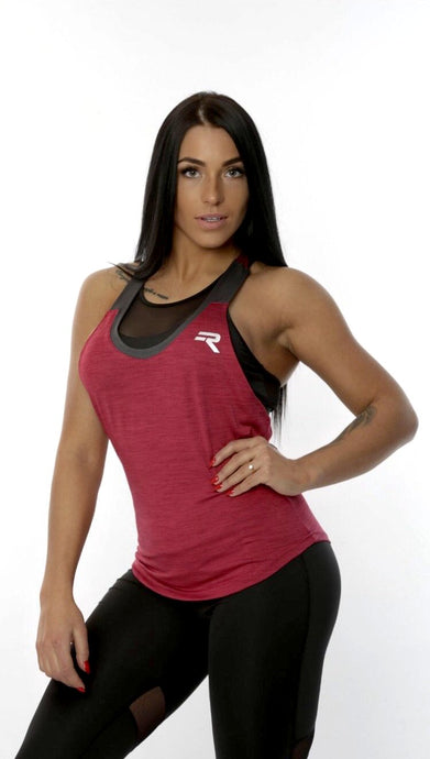 Repwear Fitness ProFit Womens Vest Berry Red - Repwear Fitness